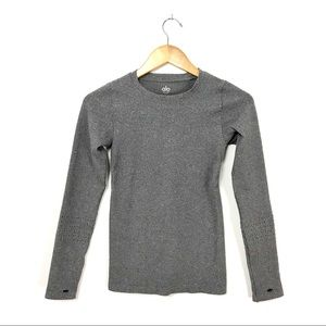 alo yoga Charcoal Gray Long Sleeve Fitted Shirt B2
